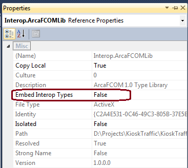 VS 2010: Interop type cannot be embedded. Use the ...